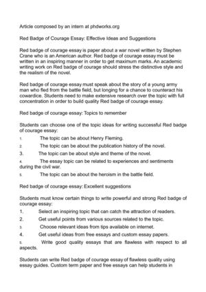 Calamo  Red Badge Of Courage Essay Effective Ideas And Suggestions Red Badge Of Courage Essay Effective Ideas And Suggestions Proposal Writers also Science Essay Example  Essay In English For Students