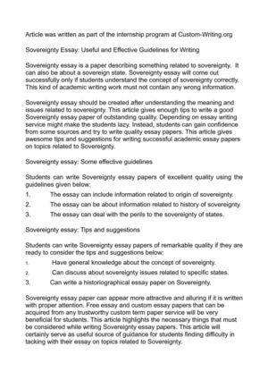 Thesis Statement Argumentative Essay Sovereignty Essay Useful And Effective Guidelines For Writing Essay About Science And Technology also Library Essay In English Calamo  Sovereignty Essay Useful And Effective Guidelines For Writing Health Care Essay