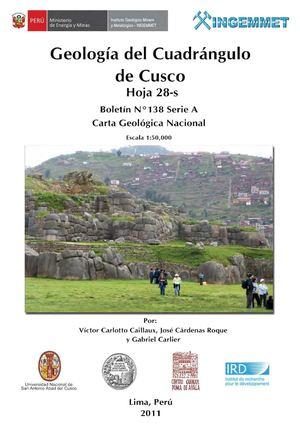 Calaméo - BOLETIN 138A GEOLOGÍA DEL CUADRANGULO DE CUSCO HOJA 28-s ...