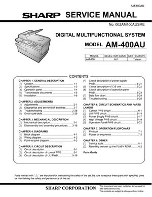 calam o service manual am410 rh calameo com Sharp Copy Hard Drive Removal Sharp Copy Hard Drive Removal