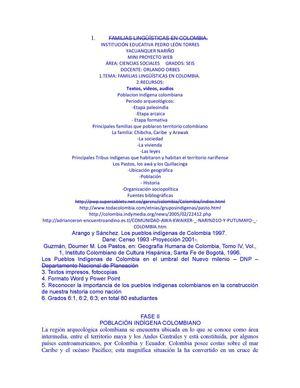 0e5d09722385 Calaméo - FAMILIAS LINGÜÍSTICAS EN COLOMBIA