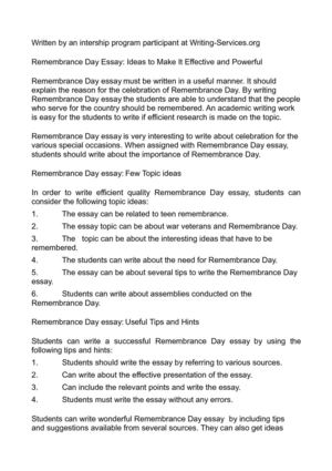 calamo   remembrance day essay ideas to make it effective and powerful