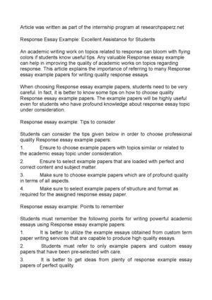 Calamo  Response Essays Excellent And Powerful Tips For Students Response Essays Excellent And Powerful Tips For Students