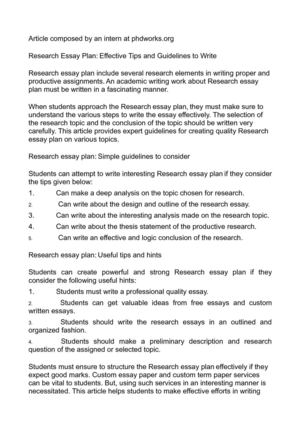 calamo  research essay plan effective tips and guidelines to write research essay plan effective tips and guidelines to write