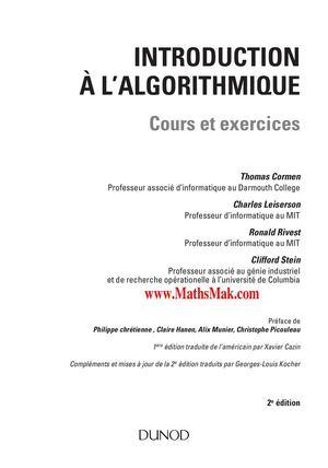 Calameo Introduction A L Algorithmique Cours Et Exercices Corriges
