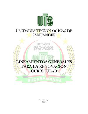 Lineamientos Curriculares UTS