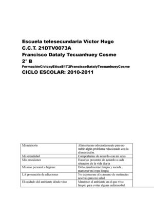 FormaciónCívicayEticaB1T2FranciscoDatalyTecuanhueyCosme