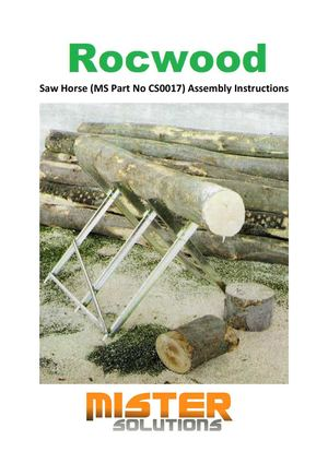 Assembly Instructions For RocwooD Saw Horse