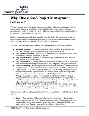 Why Choose SaaS Project Management