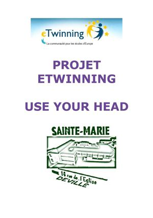 "Brochure Etwinning - ""Use your Head !"""
