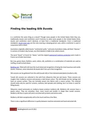 Finding the leading Silk Duvets
