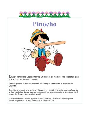 "Cuento Infantil ""PINOCHO"""