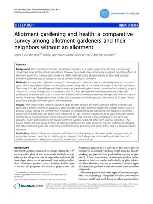 Allotment Gardening and Health