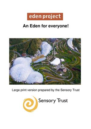 An Eden for Everyone - Sample Large Print Leaflets for Sensory Therapy Garden Projects