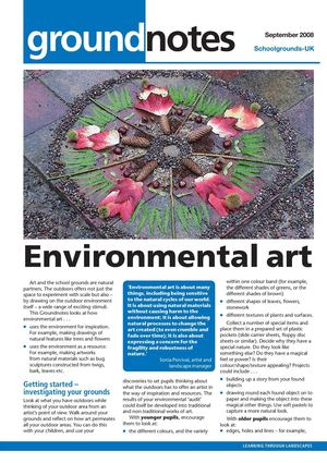 Environmental Art: Outdoors Learning at School Grounds