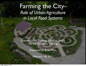 Farming the City: Role of Urban Agriculture in Local Food Systems