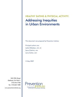 Healthy Eating and Physical Activity: Addressing Inequities in Urban Environments