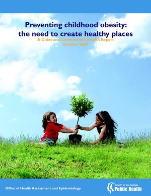 Preventing Childhood Obesity: The Need To Create Healthy Places