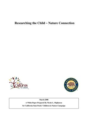 Researching the Child ~ Nature Connection