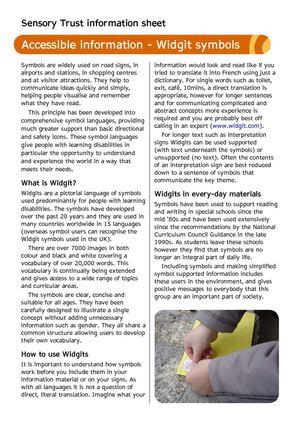 Calamo Widgit Symbols Sensory Therapy Gardens Fact Sheet