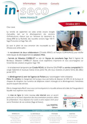 Journal Inseco Octobre 2011