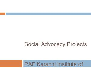 Social Advocacy Projects