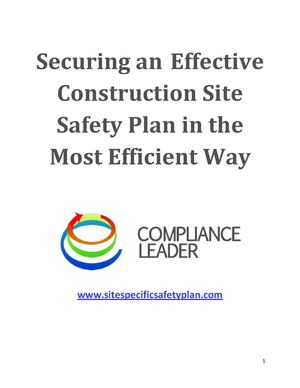 Securing an Effective Construction Site Safety Plan in the Most Efficient Way