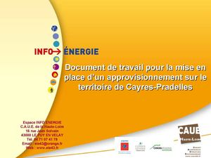 Analyse Approvisionnement Cayres-Pradelles