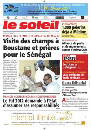 Edition du 17 Octobre 2011