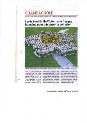 Article in Le Progrès, fresco