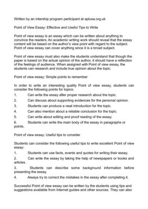Point of View Essay: Effective and Useful Tips to Write