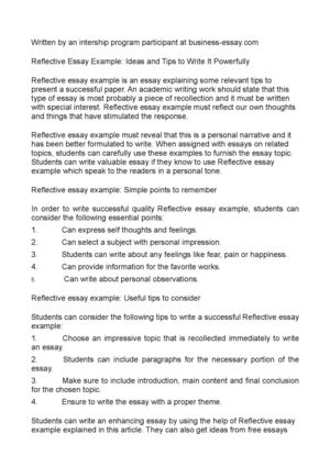 Reflective Essay Example: Ideas and Tips to Write It Powerfully
