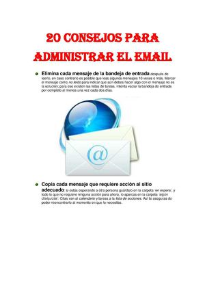 20 consejos mail
