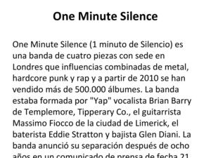 One Minute Silence