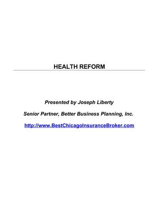 Healthcare Reform Explained