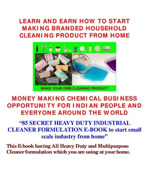 85Secret Industrial Grade Cleaning Product Concentrate Formulation