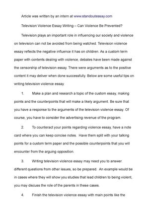 English Essay Sample Television Violence Essay Writing  Can Violence Be Prevented Do My Assignment For Cheap also Locavores Synthesis Essay Calamo  Television Violence Essay Writing  Can Violence Be Prevented Animal Testing Essay Thesis