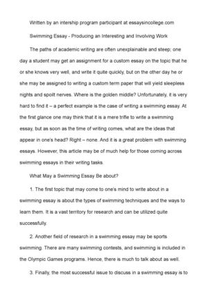 Proposal Essay Topic List  High School Entrance Essays also How To Write A Good Proposal Essay Calamo  Swimming Essay  Producing An Interesting And Involving Work Purpose Of Thesis Statement In An Essay