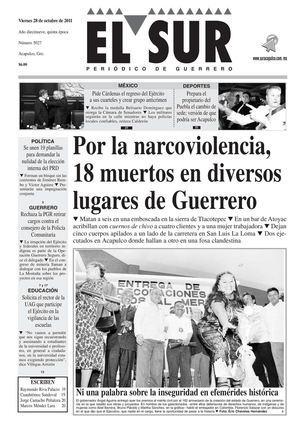 Calamo El Sur 28 De Octubre De 2011