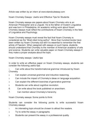 My Favorite Memory Essay Noam Chomsky Essays Useful And Effective Tips For Students Essay On Abraham Lincoln also Single Parenting Essay Calamo  Noam Chomsky Essays Useful And Effective Tips For Students Essay In English Language