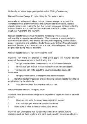 Calamo  Natural Disaster Essays Excellent Help For Students To Write Natural Disaster Essays Excellent Help For Students To Write