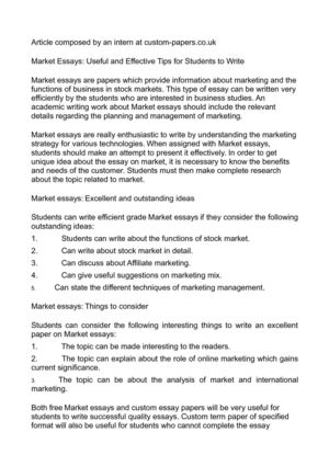 Calamo  Market Essays Useful And Effective Tips For Students To Write Market Essays Useful And Effective Tips For Students To Write English Debate Essay also Essays On Health  College Essay Paper Format