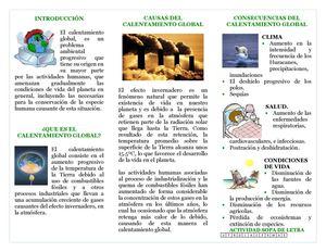 Calaméo - FOLLETO DE CALENTAMIENTO GLOBAL