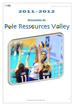 Catalogue du Pôle Ressources Volley FFVB