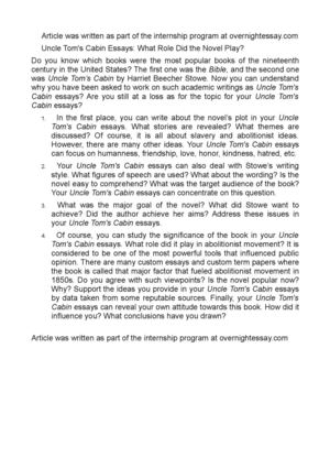 Bravery Essay Uncle Toms Cabin Essays What Role Did The Novel  5 Page Essay Example also Utilitarianism And Other Essays Calamo  Uncle Toms Cabin Essays What Role Did The Novel Play Write Scholarship Essay