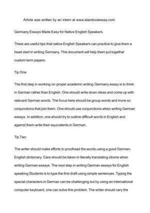 calamo  germany essays made easy for native english speakers germany essays made easy for native english speakers