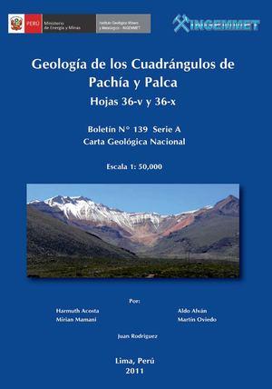 Calaméo - GEOLOGÍA DE LOS CUADRANGULOS DE PACHÍA Y PALCA HOJAS 36 ...
