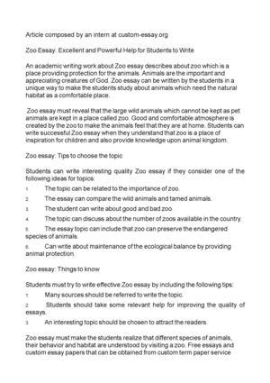 animal kingdom essay