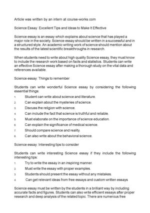 calamo   science essay excellent tips and ideas to make it