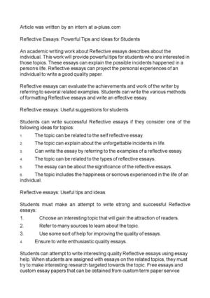 College Essay Papers Reflective Essays Powerful Tips And Ideas For Students Essay Examples High School also Essay On Business Communication Calamo  Reflective Essays Powerful Tips And Ideas For Students Model English Essays
